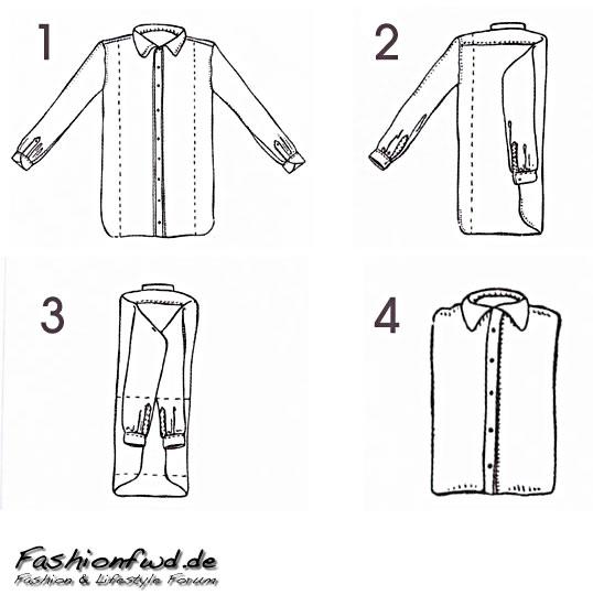 hemden richtig zusammenlegen